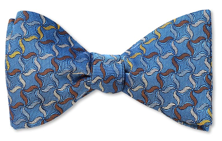 Upminster windmill whirligig blue woven bow tie