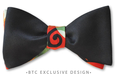 artistic 2-panel bow tie