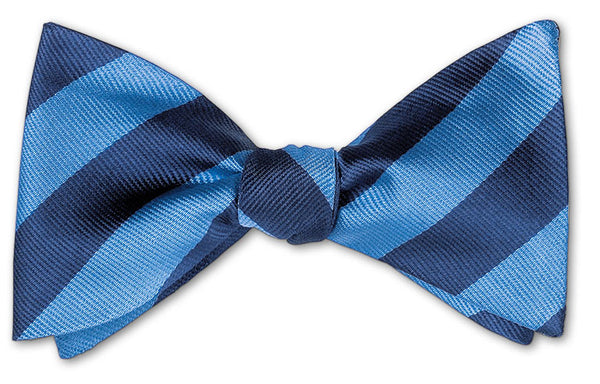 bow ties american made blue stripes