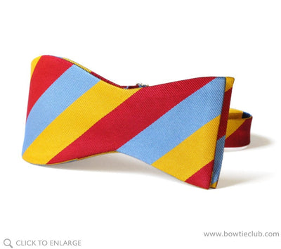 triple stripe bow tie self tie