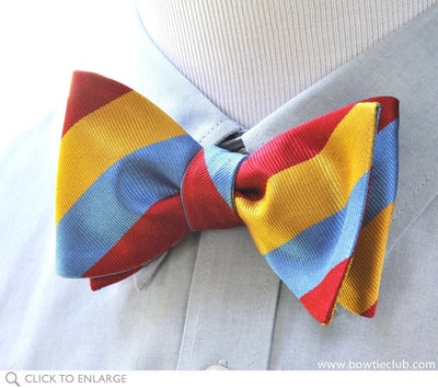 triple stripe bow tie on shirt