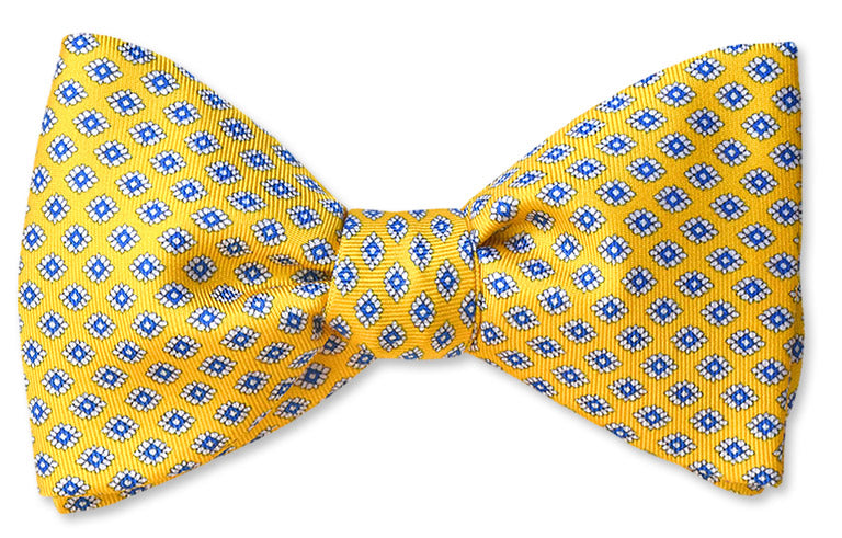 Whitman Yellow Floret Silk Bow Tie