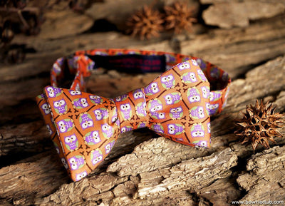 Woodsy Bow Tie Owl Silk American Made