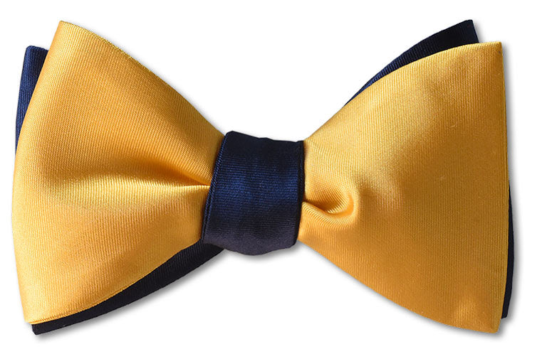 Yellow/Navy Satin Reversible