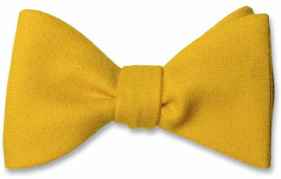 Yellow Wool Bow Tie
