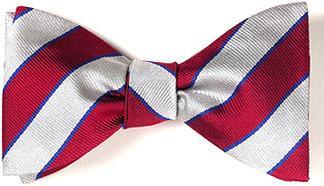bow ties american made red white stripes silk