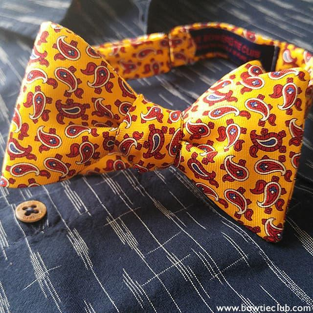 Yellow Paisley Silk Bow Tie | Majorca