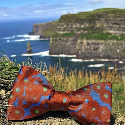 Unique Designer Silk Bow Ties Cliffs of Moher Ireland