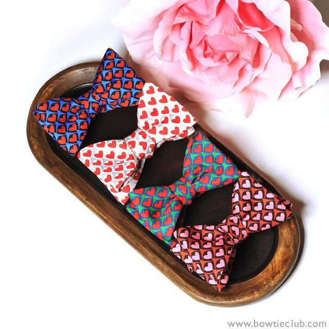 bow ties hearts valentine's day gift love