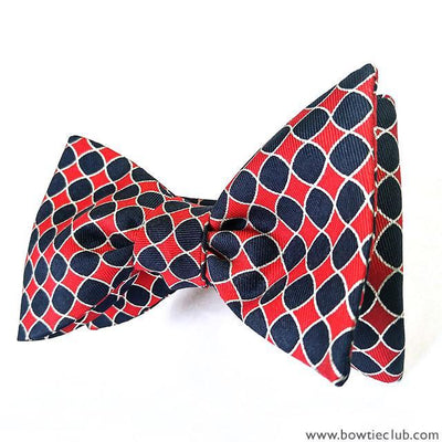 bow ties designer american made checkerboard silk red black