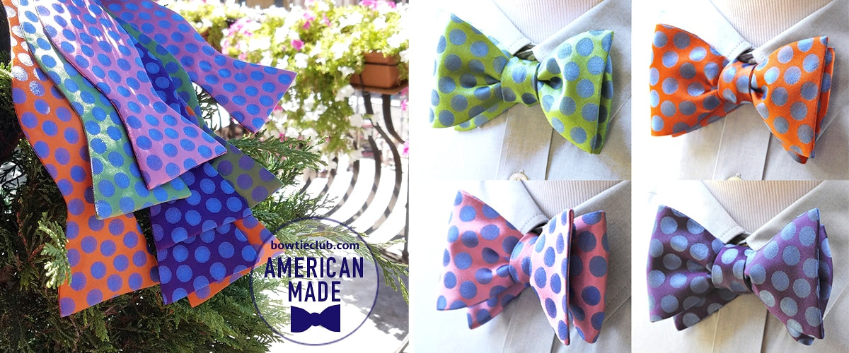 Summer Pinstripe Bow Ties