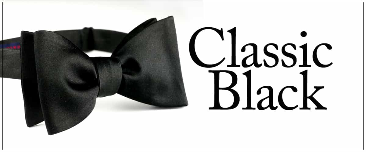 Formal Black Silk Bow Tie