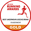 Gold Running Award - Best Underwear & Socks Brand
