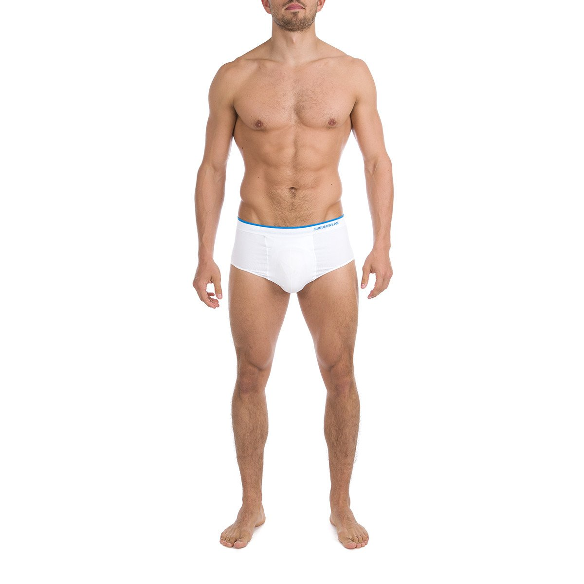 Men's Runderwear Cricket Brief - White