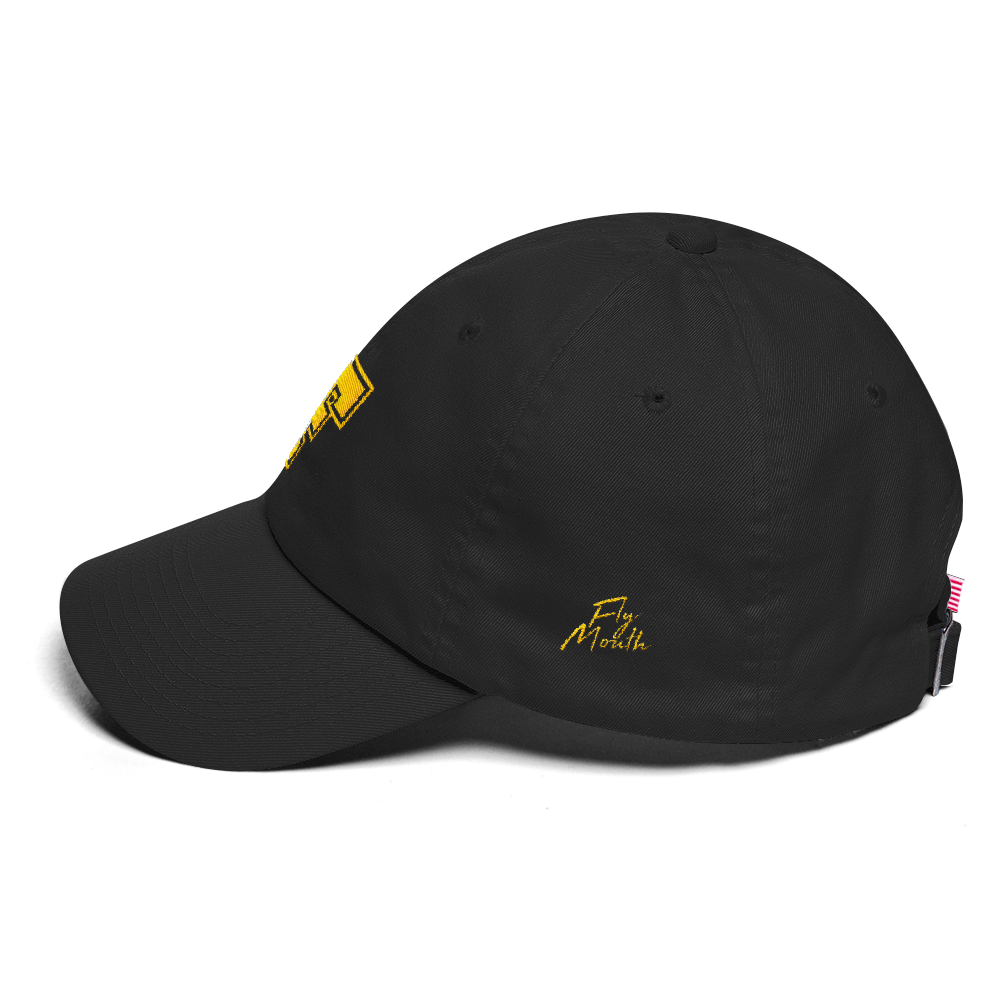 F Dad Hat   Black   Gold – FlyMouth Clothing Co 9fe150cf944