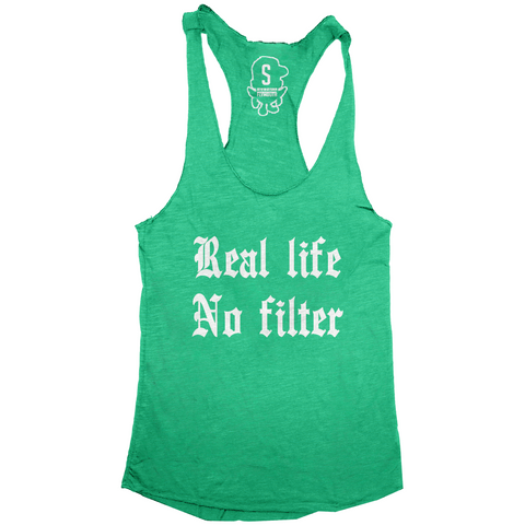 Real Life No Filter Racerback / Envy