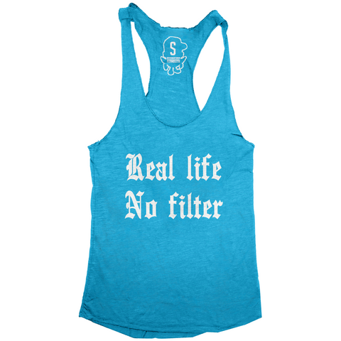 Real Life No Filter Racerback / Turquoise