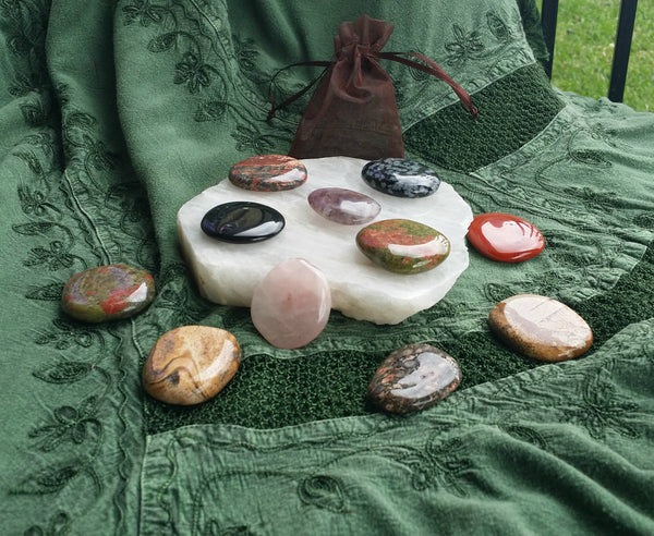 Polished soothing stones