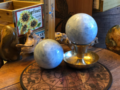 Blue Calcite Spheres