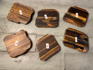 Tiger Eye Thick Slab - Incredibly Versatile for prosperity, clarity and calm during chaos FB2824