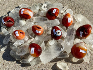 Carnelian Egg from Madagascar for Vitality & Energy FB2660
