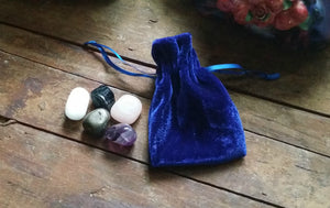 Protection & Calm Crystal Collection in Velvet Pouch - Medicine Bag