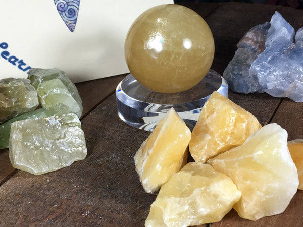 Green, Red, Blue Honey & Orange Calcite Natural rough pieces; FB1607