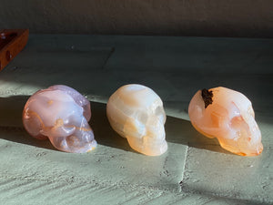 Agate Drusy Skull, protection, courage, harmony healing; FB2314