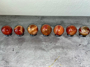 Sardonyx Sphere from Madagascar with Drawstring Pouch FB2297