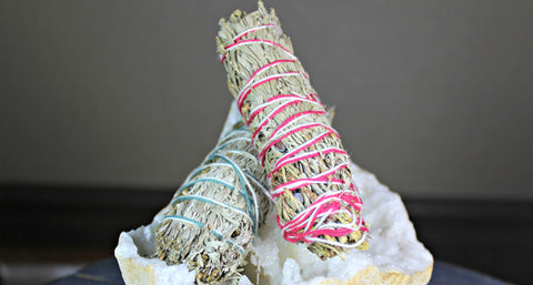 Ceremonial Sweetgrass & Mountain Journey Smudge Bundles - (White Sage, Desert Sage, Cedar, Lavender & Copal)