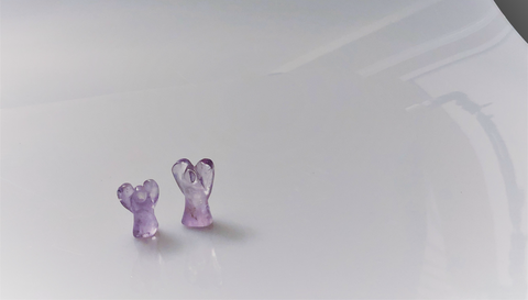 Amethyst Carved Mini Angels