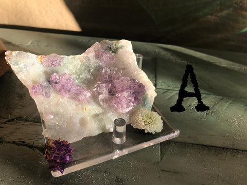 Amethyst Flower Drusy Natural Plates, tranquility, calm and serenity; FB2537