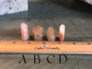 Amphibole / Angel Quartz Mini Polished Points from Brazil, FB2630