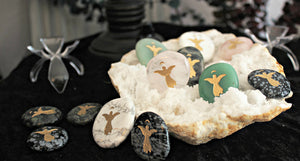 Angel Totem / Spirit Stone Engraved on Assorted Gemstones