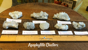 Apophyllite and Stilbite Clusters; FB1575