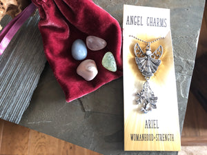 *SPECIAL* Angel Ariel Charm & Stone Collection for Womanhood, Strength; FB2028