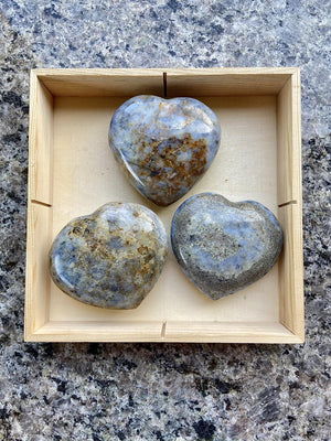 Blue Opal Heart from Australia for tranquility and a gentle energy FB2674