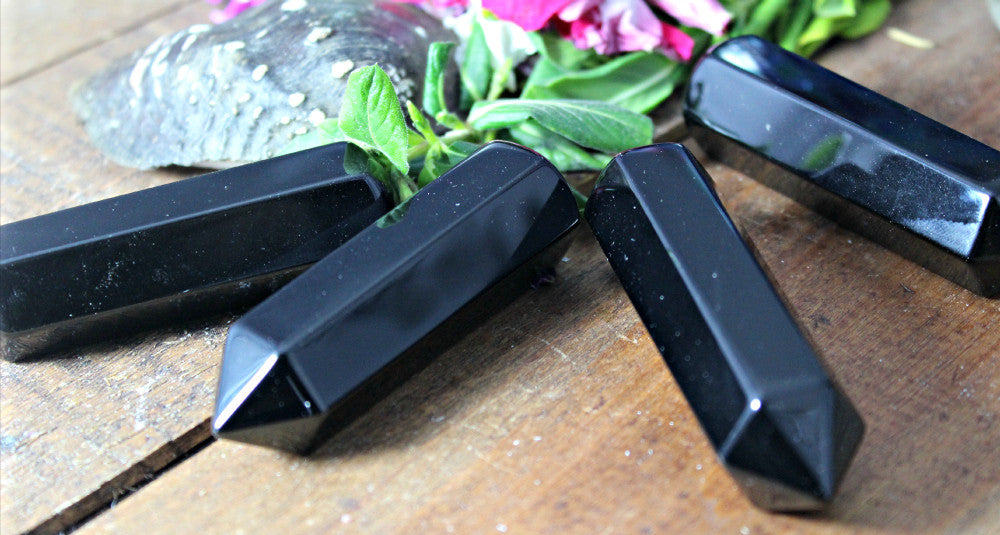 Black Obsidian, Single Terminated Wands for Crystal, Reiki, Energy Healing and Crystal Grids