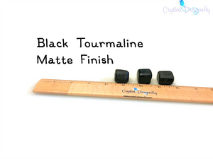 Tumbled Black Tourmaline, MATTE finish - Joy, Channeling, Protection, Serenity; FB1645