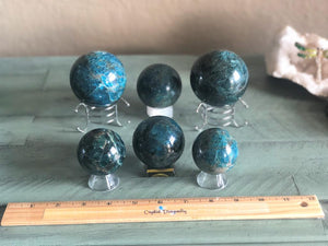 Blue Apatite Sphere from Brazil, FB2159