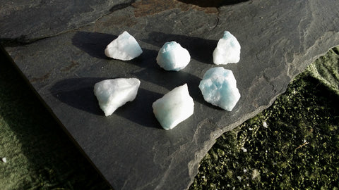 Blue Aragonite Rough - Heart, Throat & Third Eye Chakra