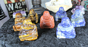 Carved Buddhas in assorted Gemstones