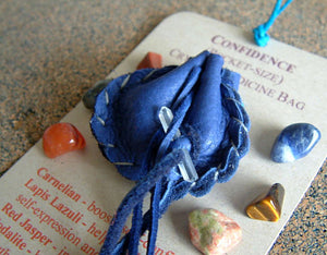 Crystal Medicine Bag - Pocket Size - Confidence