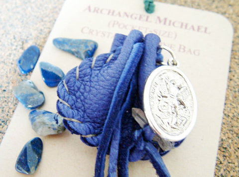 Crystal Medicine Bag - Pocket Size - Archangel Michael