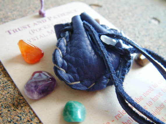 Crystal Medicine Bag - Pocket Size - Trust and Patience