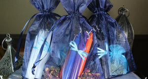 Mini Ritual / Altar / Chime Candles with Essential Oil Blends and Dried Herbs