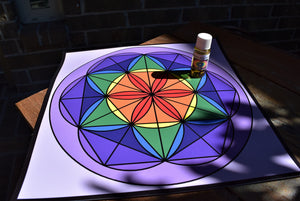 Chakra Crystal Grid Board, Mat, Base; FB1259