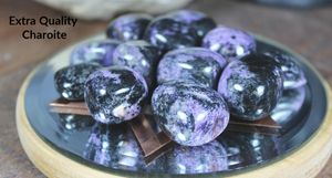 Tumbled Charoite from Siberia for soothing nerves and relationships