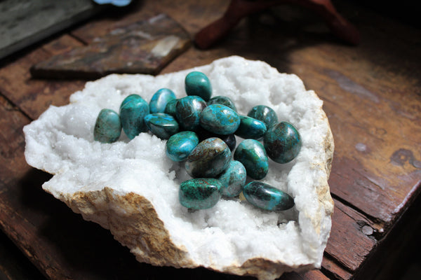 Tumbled Chrysocolla (Larger) for Love, Stress & Rebuilding