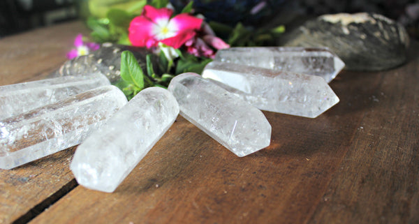 Clear Quartz Wands, Single Terminated for Crystal, Reiki, and Energy Healing and Crystal Grids, FB1380